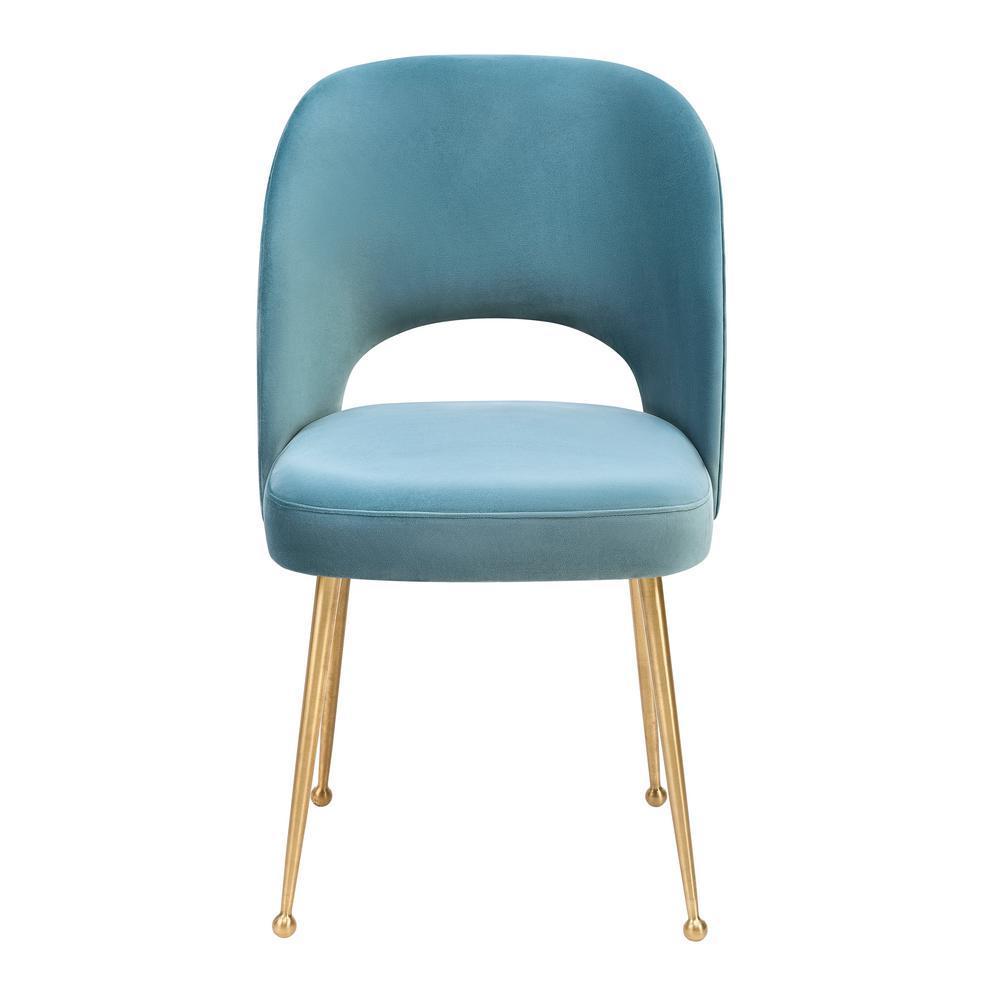 Tov Furniture Swell Sea Blue Velvet Chair
