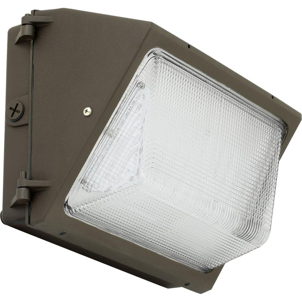 Progress Lighting PCOWP Collection Bronze Outdoor Integrated LED Wall Pack Light