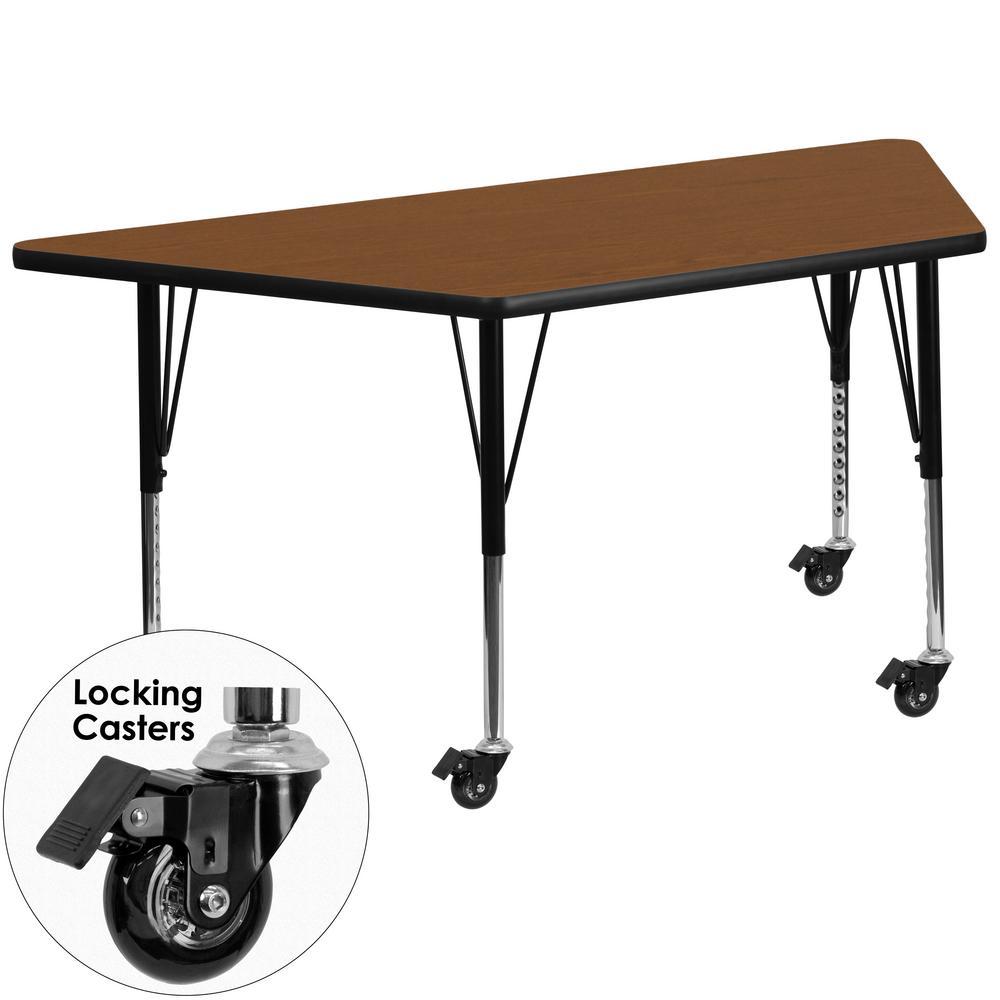 Flash Furniture Oak Kids Table XUA2448TRPOKHPC