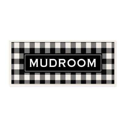 """7 in. x 17 in. """"Mudroom Classic New England Plaid"""" by Tammy Apple Printed Wood Wall Art"""