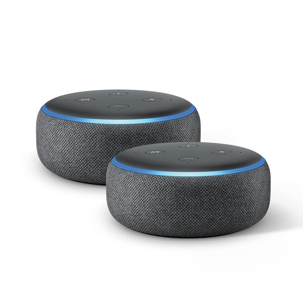 Echo Dot Gen3 in Black (2-Pack)