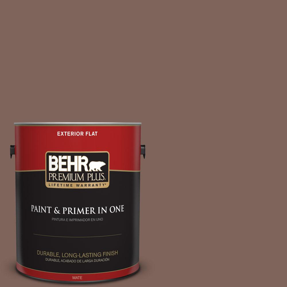 BEHR Premium Plus 1-gal. #BNC-23 Almond Truffle Flat Exterior Paint
