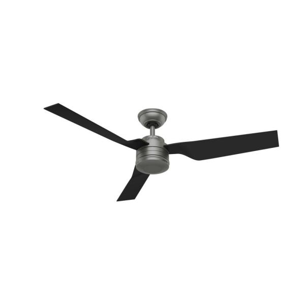 Cabo Frio 52 in. Indoor/Outdoor Matte Silver Ceiling Fan
