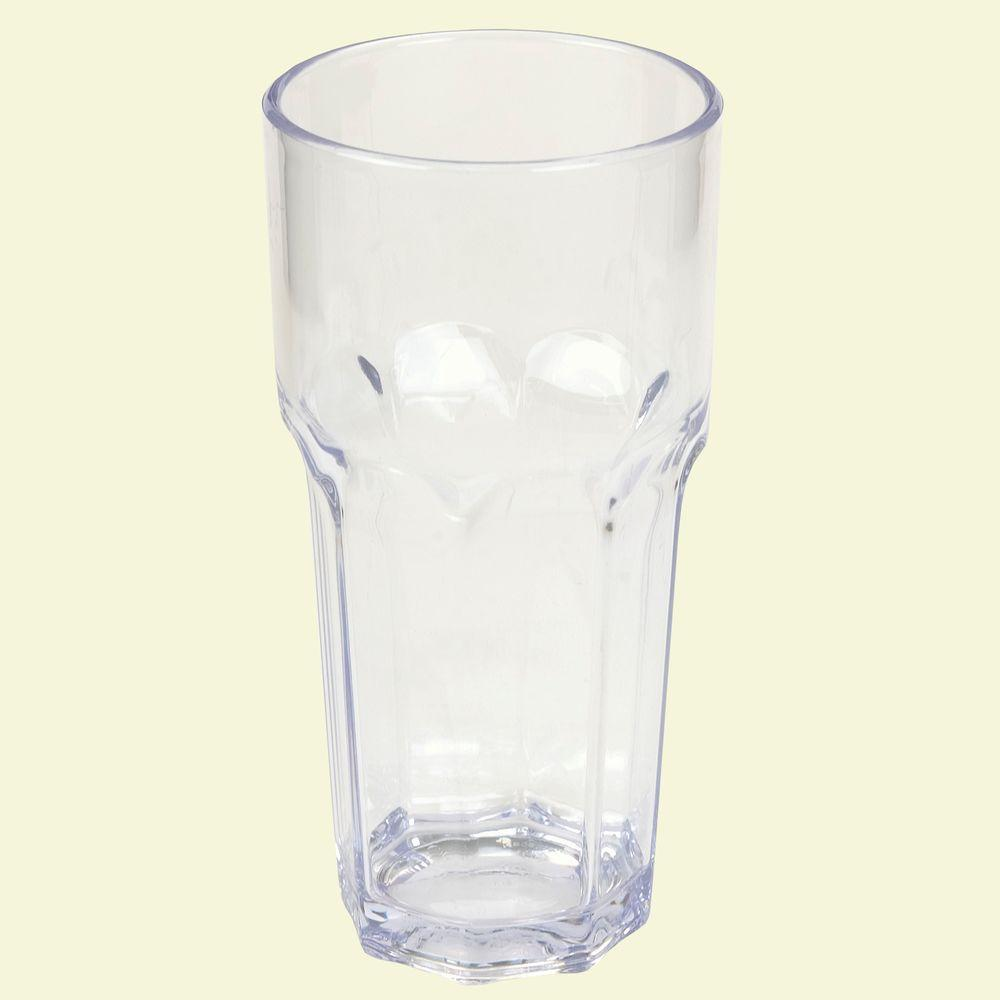 14 oz. SAN Plastic Clear Tumbler (Case of 24)