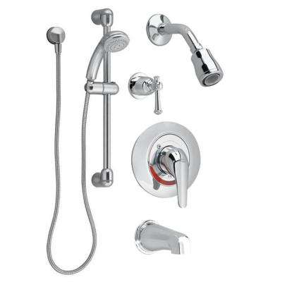 Commercial 36 in. Shower System with Hand Shower and Colony Soft Valve Only Trim 1.5 gpm in Chrome (Valve Included)