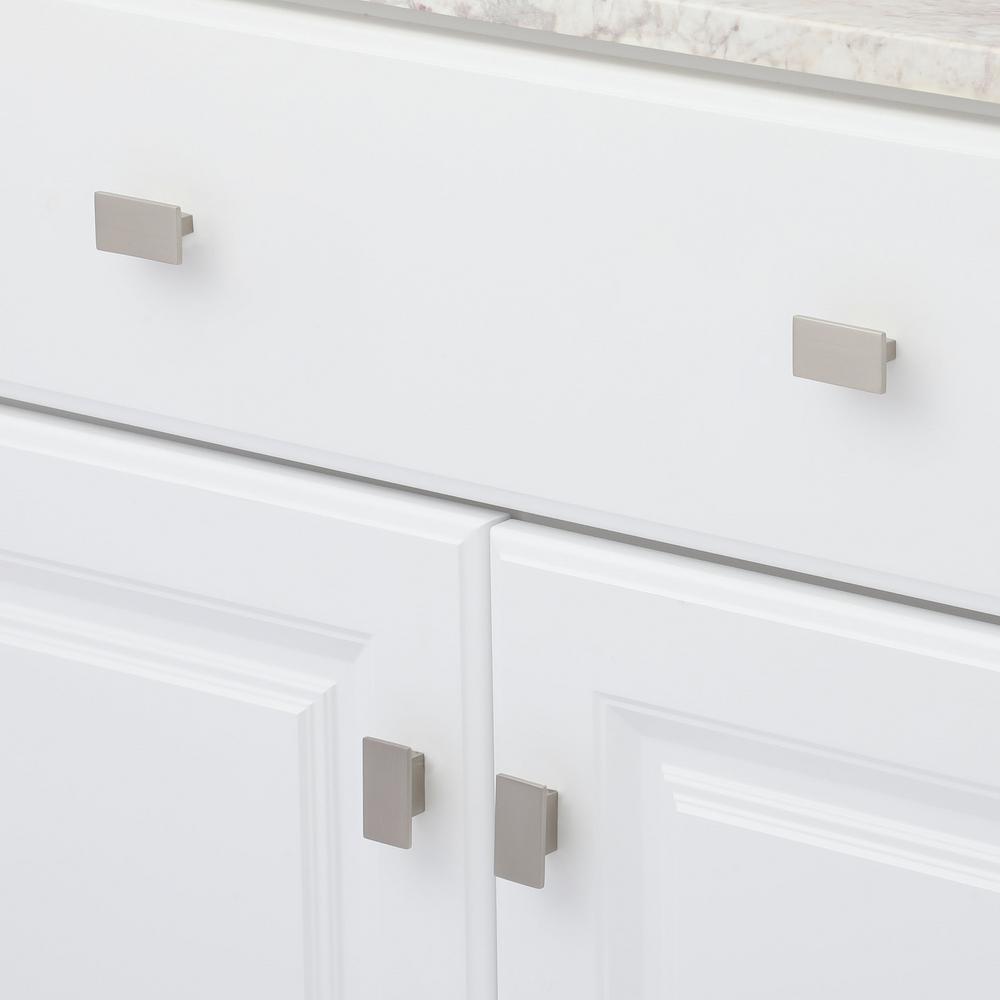5/8 in. Brushed Nickel Cabinet Knob