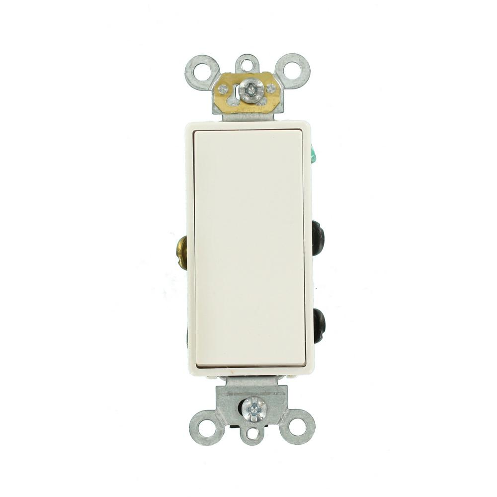 Leviton 1755 W Light Switch Decora Three Rocker Combo Cooper Wiring Quiet Toggle Single Pole Lighted 15 A 120 V Ivory 5624 2w 20 Amp 277 Volt Plus 4