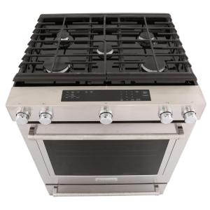 KitchenAid 30 in. 5.8 cu. ft. Slide-In Gas Range with Self ...
