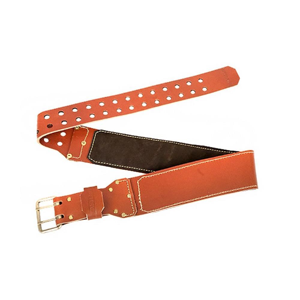 53 in. Premium Leather Tool Belt, Brown