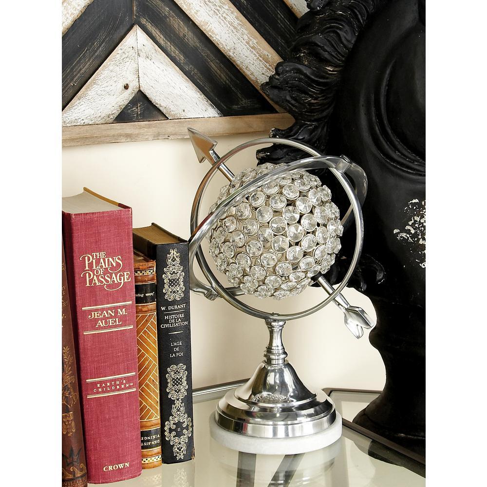 Decorative Acrylic Jewel Globe with Arrow Accent by