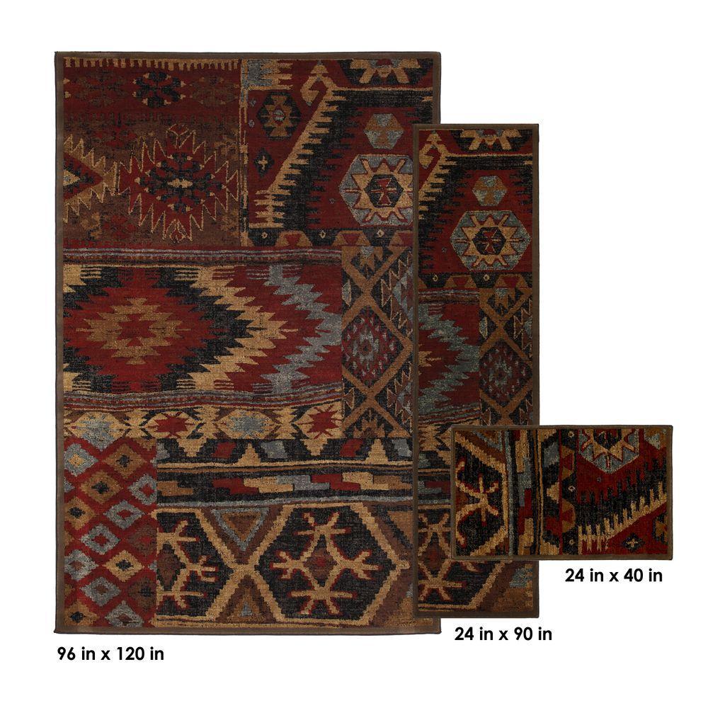 Mohawk Home Sabriel Coco Leaf 8 ft. x 10 ft. 3 Piece Rug Set