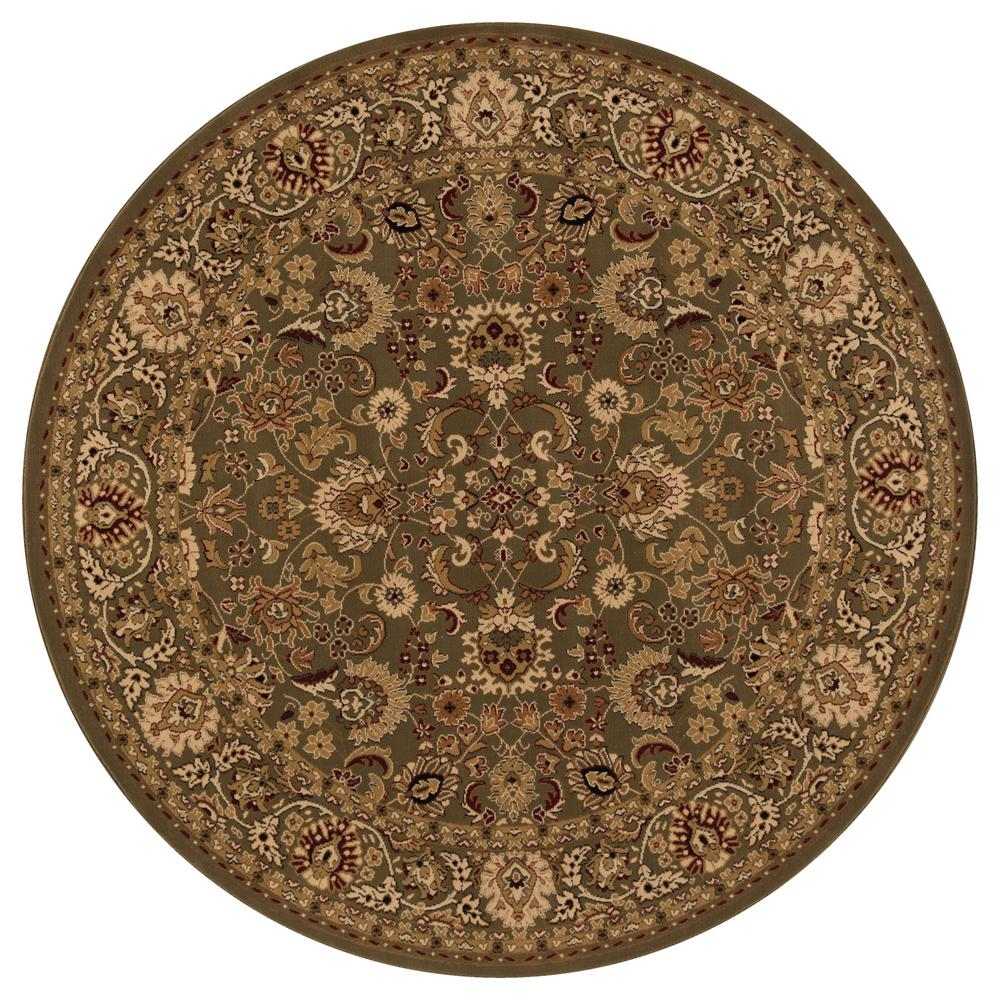 Concord Global Trading Persian Classics Mahal Green 7 ft. 10 in. Round Area Rug