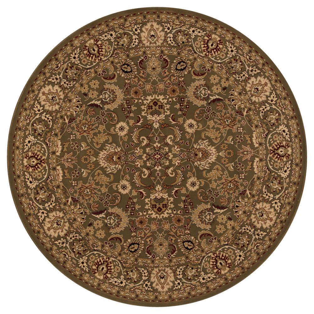 Persian Classics Mahal Green 8 ft. Round Area Rug