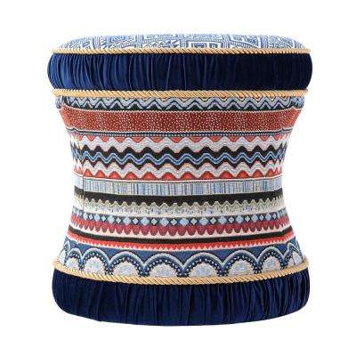 Leona Multicolored Vanity Stool