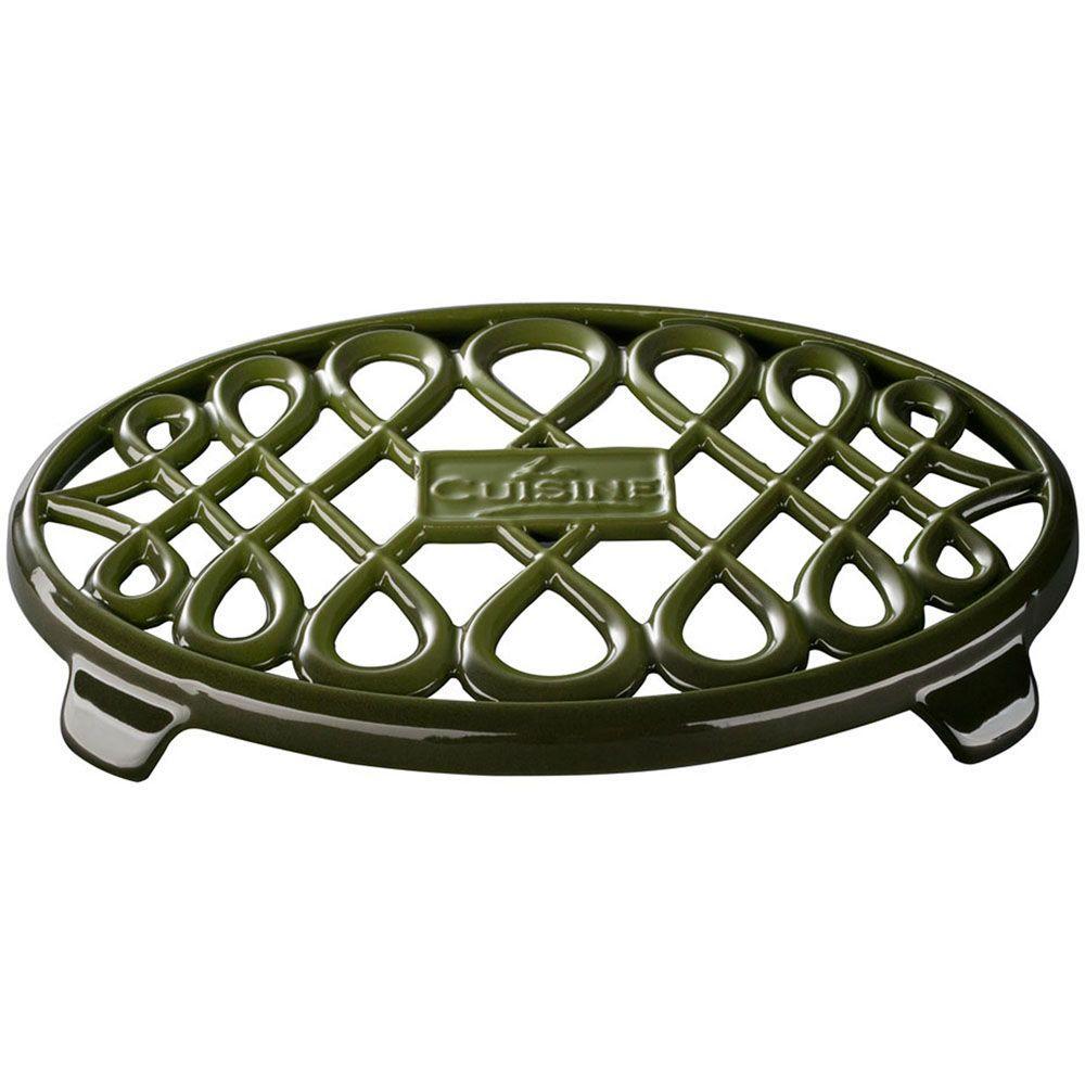 La Cuisine Cast Iron Non-slip Green Trivet