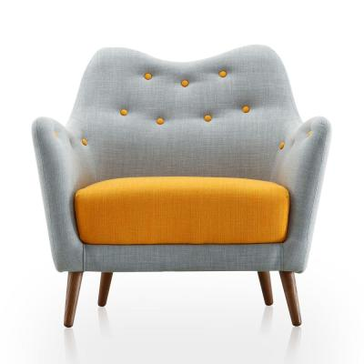 Blue and Yellow Poet Chair