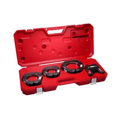M18 Force Logic 2-1/2 in. - 4 in. Press Ring Kit Set (4 Jaws Included)