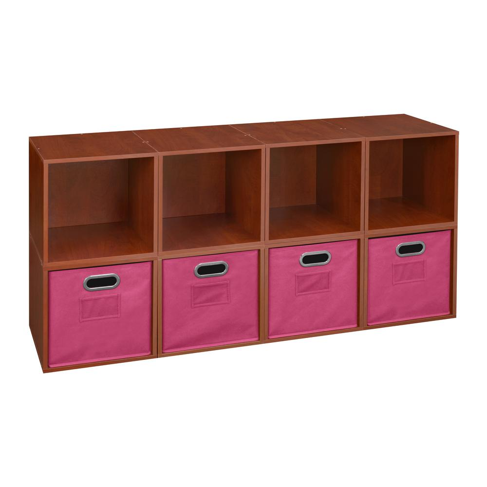 Cubo 26 in. H x 52 in. W Cherry/Pink (Red/Pink) 8-Cube an...