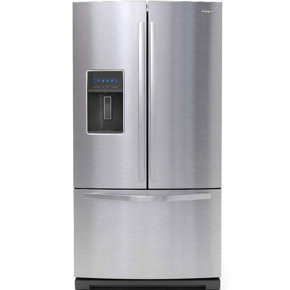 Whirlpool Gold 26.8 cu. ft. French Door Refrigerator in Monochromatic Stainless Steel