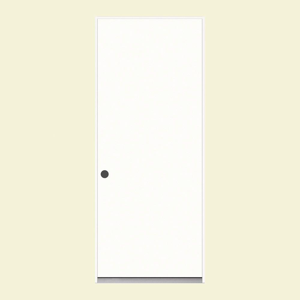 32 in. x 80 in. Flush Primed Steel Prehung Right-Hand Inswing