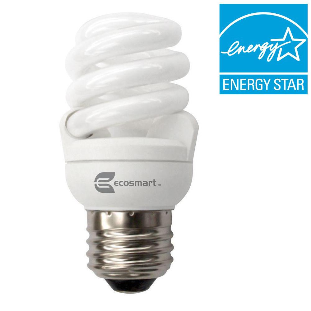 EcoSmart 40W Equivalent Soft White (2700K) Spiral CFL Light Bulb (4-Pack)
