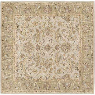 Charles Beige 8 ft. x 8 ft. Square Indoor Area Rug