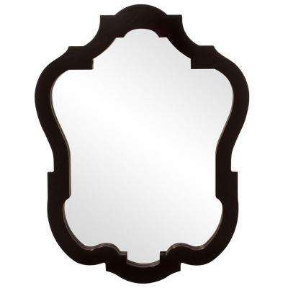 42 in. x 32 in. Glossy Black Classic Framed Mirror