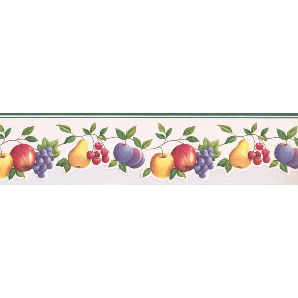 Plum Wallpaper Border Apple Pear /& Grape Vine Fruit