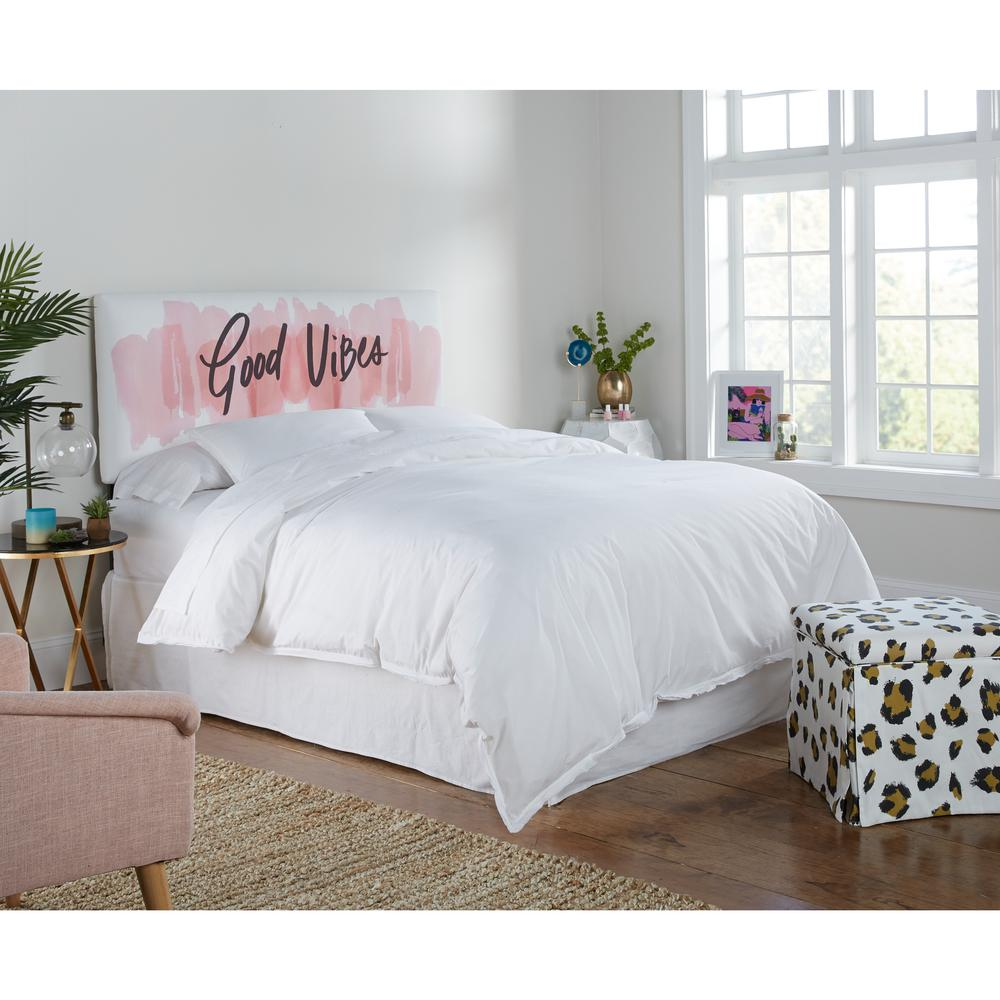 Skyline furniture good vibes mg blush twin upholstered headboard