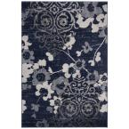 Adirondack Navy/Silver 9 ft. x 12 ft. Area Rug