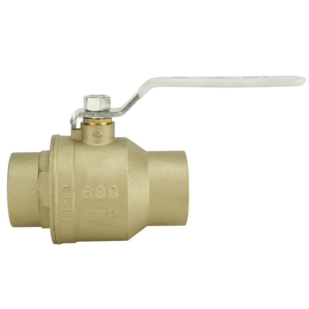 2-1/2 in Lead Free Brass SWT x SWT Ball Valve