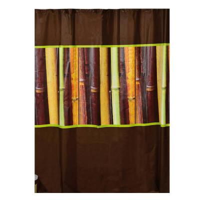 Evideco 71 in. x 71 in. Multi-Colored Java Bathroom Printed Peva Shower Curtain
