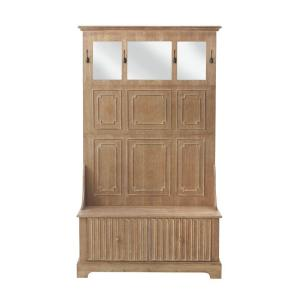 Home Decorators Collection Manor Washed Oak Hall Tree 9199900930 The Home Depot