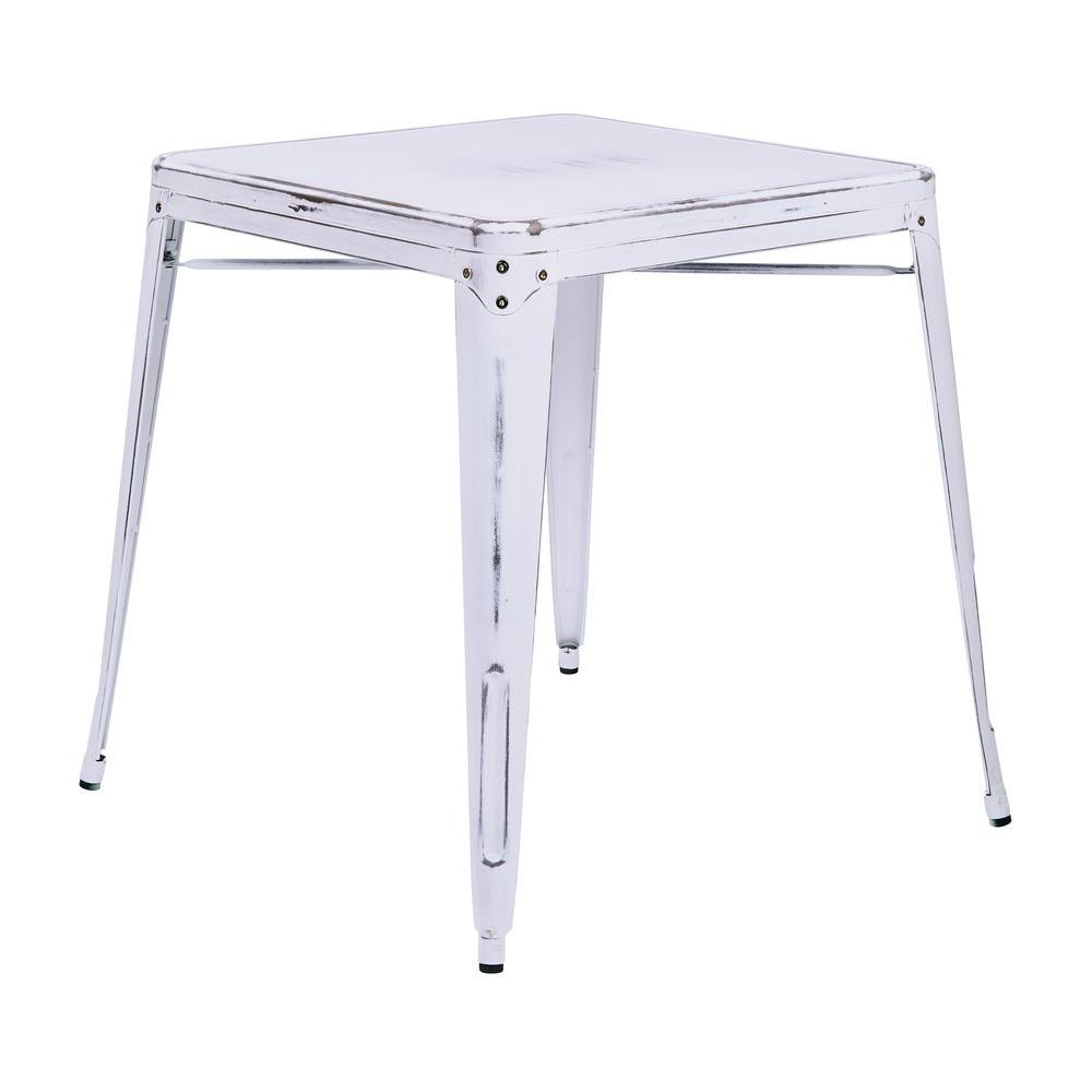 Osp Designs Bristow Antique White End Side Table