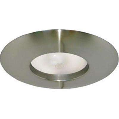 6 in. Satin Nickel Recessed Lighting Wide Ring