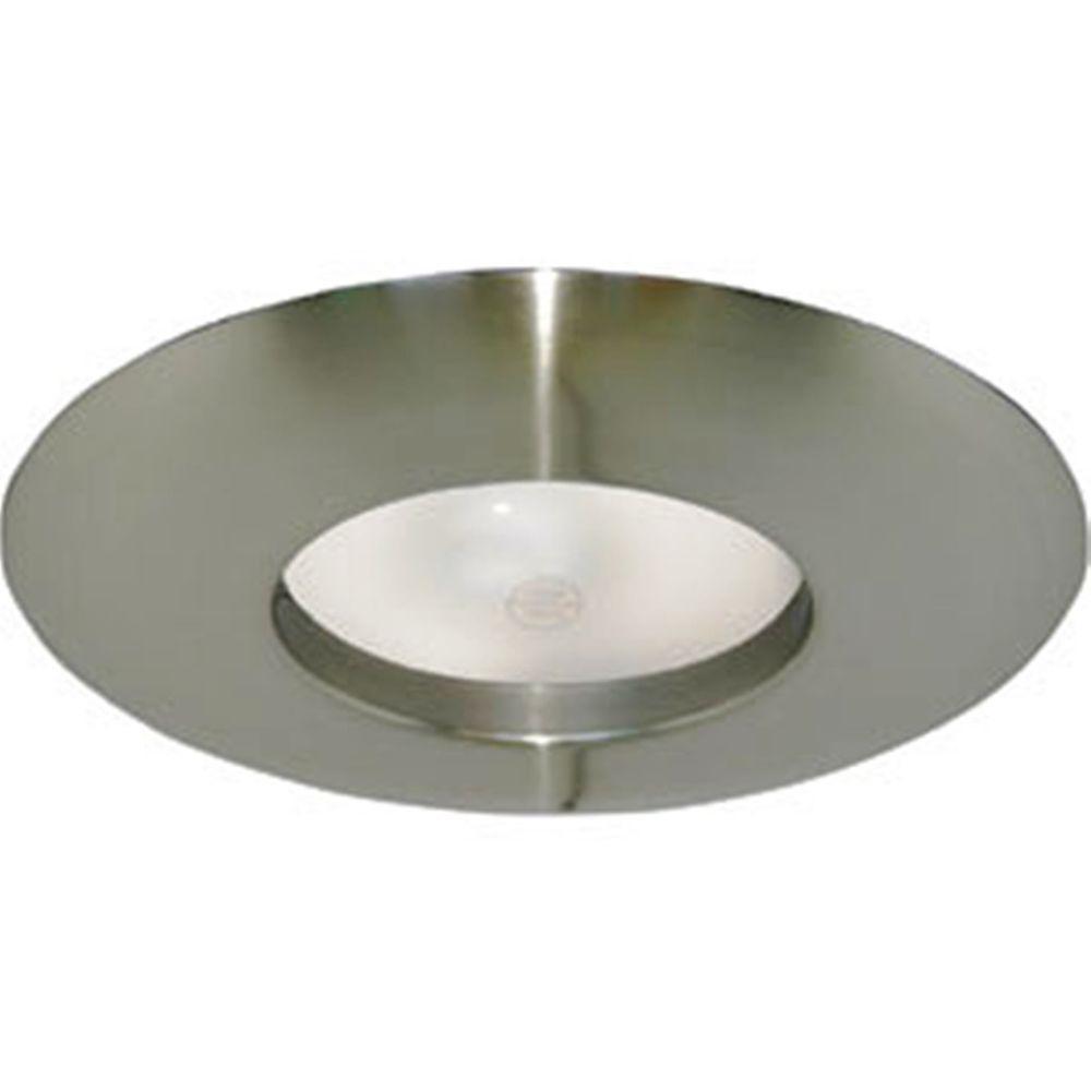 6 in. Satin Nickel Recessed Lighting Wide Ring