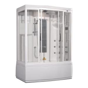 Aston ZAA208 59 inch x 36 inch x 86 inch Steam Shower Right Hand Enclosure Kit with Whirlpool Bath in White by Aston