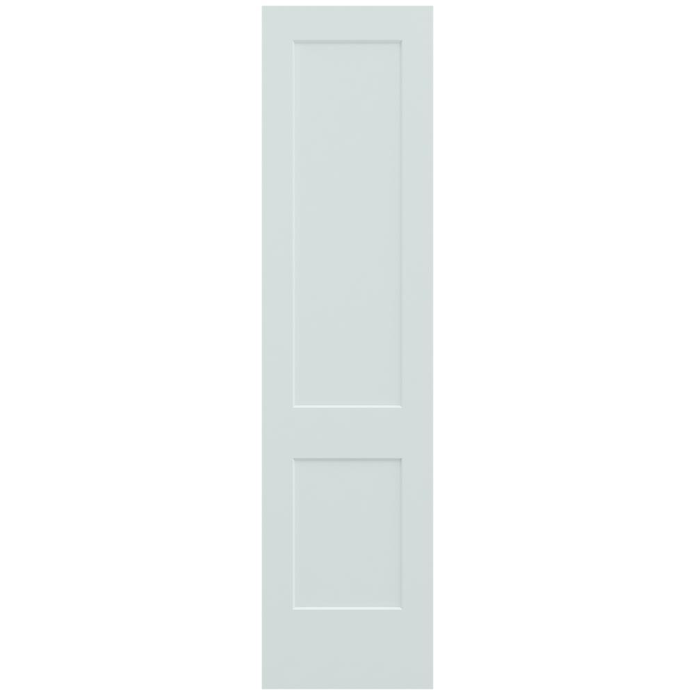 JELD-WEN 24 in. x 96 in. Monroe Light Gray Painted Smooth Solid Core Molded Composite MDF Interior Door Slab