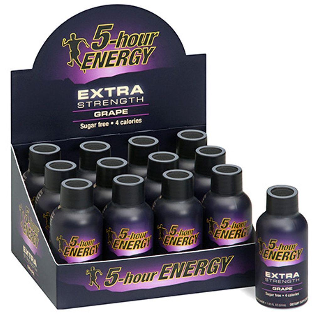 5 Hour Energy Extra Strength Grape Energy Drink (12-Pack)