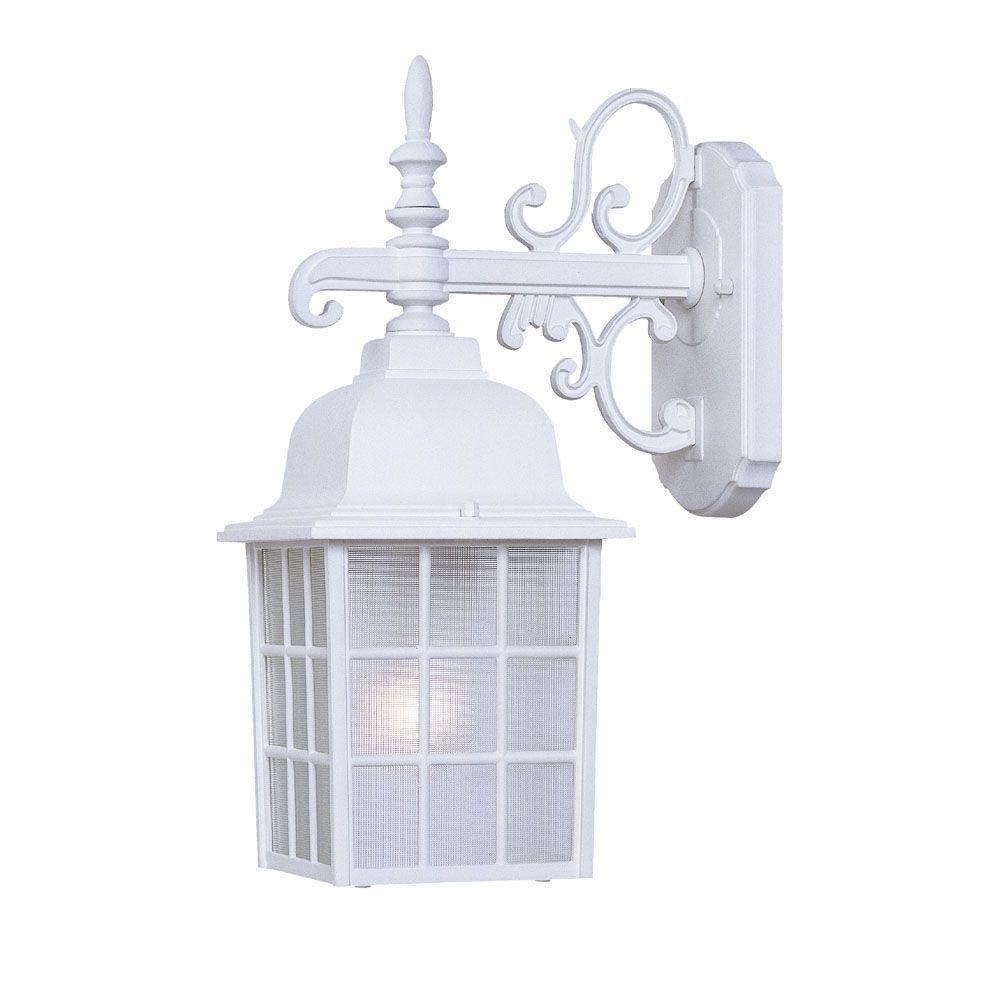 Home Depot Exterior Light Fixtures: Acclaim Lighting Nautica Collection 1-Light Textured White