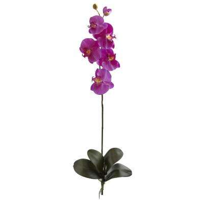 Indoor 40 in. Large Orchid Phalaenopsis Artificial Flower (Set of 3)
