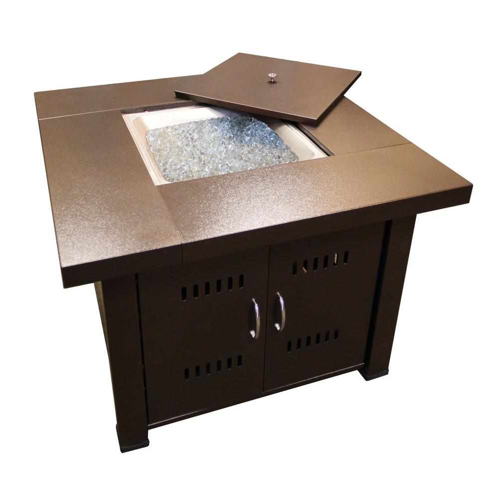 AZ Patio Heaters 38 in. Steel Firepit in Bronze, Powder C...