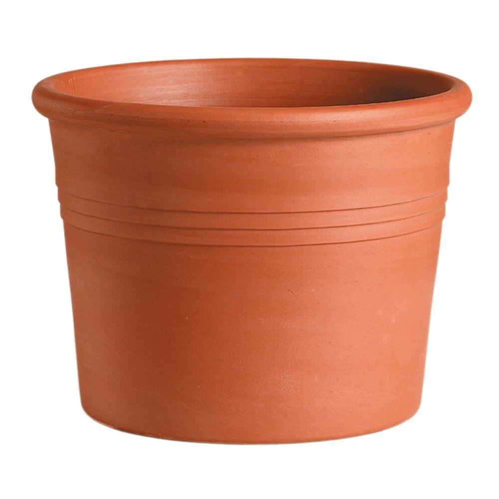 Deroma 4 in. Round Terra Cotta Clay Pot