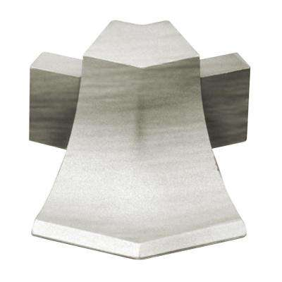 Dilex-AHKA Brushed Nickel Anodized Aluminum 9/16 in. x 1 in. Metal 135 Degree Outside Corner