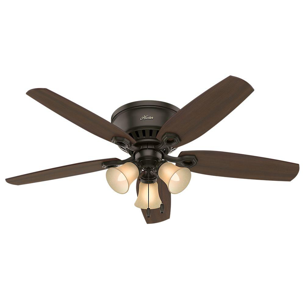 Hunter Hd 53327 52 In Indoor Bronze Lighted Ceiling Fan