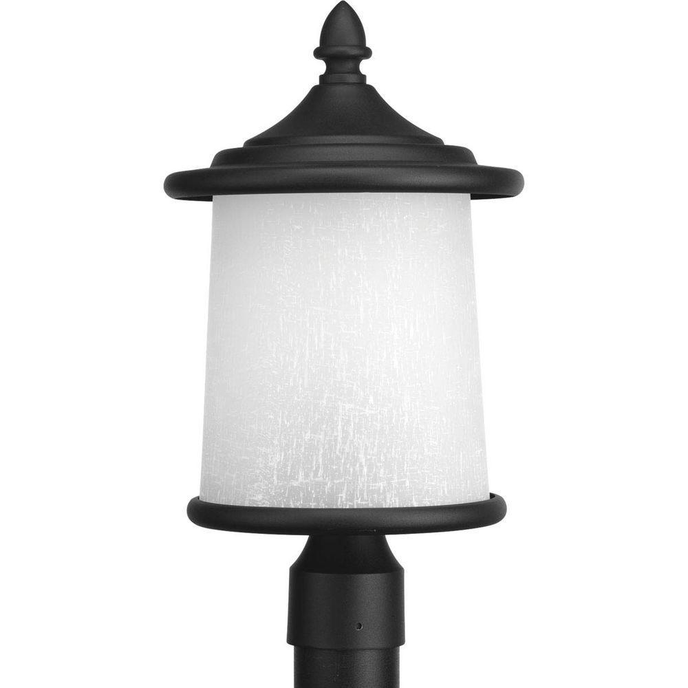 Essential Collection 3-Light Black Outdoor Post Lantern