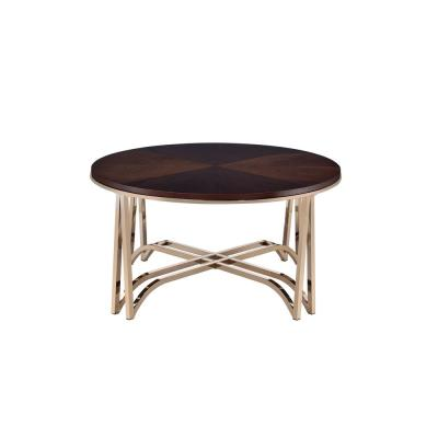 Acme Furniture Novus Walnut and Champagne Coffee Table
