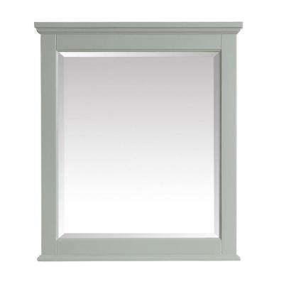 Colton 28 in. x 32 in. Framed Wall Mirror in Basil Green