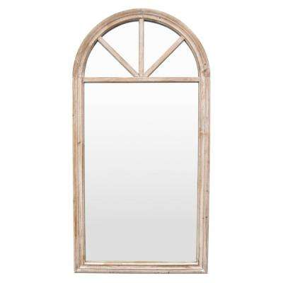 46 in. Brown Wood Wall Mirror