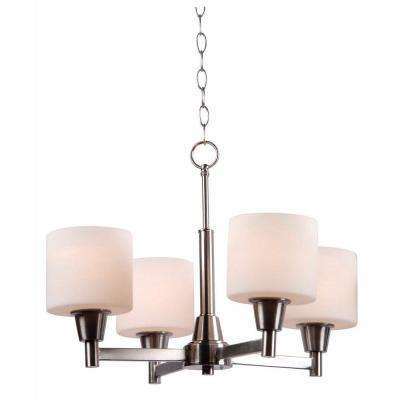 Oron 4-Light Brushed Steel Chandelier